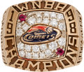 Basketball Collectibles:Others, 1998 Houston Comets WNBA Championship Ring Presented to SherylSwoopes....