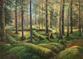 Fine Art - Painting, American:Contemporary   (1950 to present)  , American School (20th Century). Forest Scene. Oil on canvaslaid on masonite. 40-1/2 x 56-1/2 inches (102.9 x 143.5 cm)...