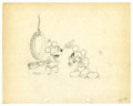 "Original Comic Art:Miscellaneous, Walt Disney Studios - ""Camping Out"" Animation Production DrawingOriginal Art (Disney, 1934). ""Mickey, look out!,"" cries Min..."