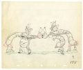 "Original Comic Art:Miscellaneous, Walt Disney Studios - ""Woodland Cafe"" Animation Production DrawingOriginal Art (Disney, 1937). On a crowded dance floor, tw..."