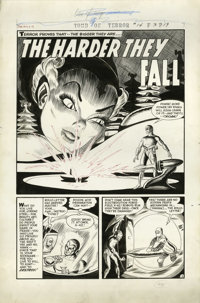 "Jack Sparling - Tomb of Terror #14, Complete 5-page Story ""The Harder They Fall"" Original Art (Harvey, 1954)..."