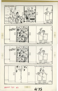 "Don Martin - Mad #237, page 39 Original Art (EC, 1991). Don Martin illustrates ""One Fine Day in Rochester, New York..."