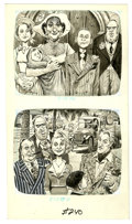 Original Comic Art:Sketches, Harry North - Mad #240 and #256 Illustration Original Art, Group of 7 (EC, 1983-85). Two of these uproarious Harry North ill... (Total: 7 Illustration Art)