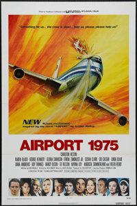 "Airport 1975 (Universal, 1974). One Sheet (27"" X 41""). This disaster thriller was directed by Jack Smight and..."