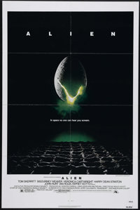 "Alien (20th Century Fox, 1979). One Sheet (27"" X 41""). The crew of a mining ship investigates a distress signa..."