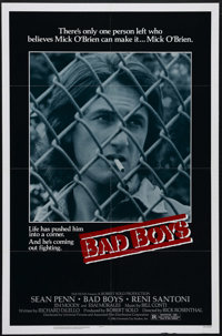 "Bad Boys (Universal, 1983). One Sheet (27"" X 41""). After killing a gang leader, Sean Penn is sent to a juvenil..."