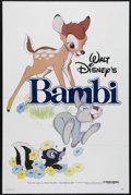 "Movie Posters:Animated, Bambi (Buena Vista, R-1982). One Sheet (27"" X 41""). At a production cost of $2 million, ""Bambi"" actually lost money during i..."