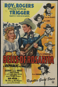 """Bells of Rosarita (Republic, 1945). One Sheet (27"""" X 41""""). Western. Directed by Fred McDonald. Starring Roy Ro..."""