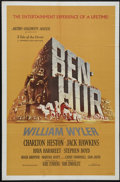 "Movie Posters:Action, Ben-Hur (MGM, 1959). One Sheet (27"" X 41""). The epic directed byWilliam Wyler is the first of only three films to win eleve..."