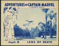 "Movie Posters:Adventure, Captain Marvel (Republic, 1941). Lobby Card (11"" X 14""). Taken fromthe popular Fawcett comic book character, this serial is..."