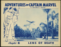"""Captain Marvel (Republic, 1941). Lobby Card (11"""" X 14""""). Taken from the popular Fawcett comic book character..."""