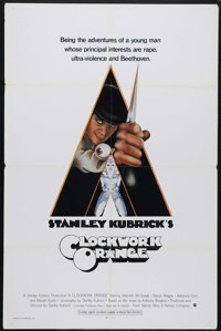 "A Clockwork Orange (Warner Brothers, 1971). International One Sheet (27"" X 41""). Stanley Kubrick's ""A Clo..."