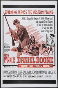 "Daniel Boone, Frontier Trail Rider (20th Century Fox, 1966). One Sheet (27"" X 41""). This film was taken from t..."