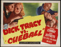 "Movie Posters:Crime, Dick Tracy vs. Cueball (RKO, 1946). Half Sheet (22"" X 28""). MorganConway made his final screen appearance as Chester Gould'..."