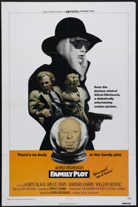 """Family Plot (Universal, 1976). One Sheet (27"""" X 41""""). Alfred Hitchcock's last film stars Bruce Dern and Barbar..."""