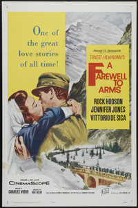 "A Farewell to Arms (20th Century Fox, R-1963). Re-release One Sheet (27"" X 41""). War/Romance. Directed by John..."