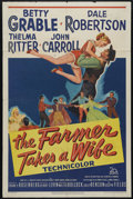 """Movie Posters:Musical, The Farmer Takes a Wife (Twentieth Century Fox, 1953). One Sheet (27"""" X 41""""). Betty Grable and Dale Robertson take over the ..."""