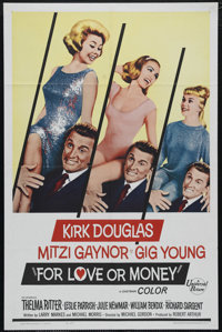 "For Love or Money (Universal International, 1963). One Sheet (27"" X 41""). Kirk Douglas has his hands full with..."