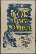 """Movie Posters:War, God Is My Co-Pilot (Warner Brothers, 1945). One Sheet (27"""" X 41"""").War Drama. Directed by Robert Florey. Starring Dennis Mor..."""