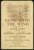 Movie Posters:Academy Award Winner, Gone With the Wind (MGM, 1939). Program (Multiple Pages). ClarkGable and Vivien Leigh star in this sweeping epic about the ...