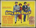 "Movie Posters:Musical, Guys and Dolls (MGM, 1955). Title Lobby Card (11"" X 14""). Marlon Brando, Frank Sinatra, Jean Simmons and Vivian Blaine star ..."