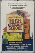 "Movie Posters:Action, High School Confidential (MGM, 1958). One Sheet (27"" X 41""). Teenexploitation at its best! Russ Tamblyn and John Drew Barry..."