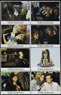 """The House That Dripped Blood (Cinerama Releasing, 1971). Lobby Card Set of 8 (11"""" X 14""""). This B-horror film s..."""