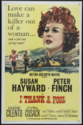 "Movie Posters:Drama, I Thank a Fool (MGM, 1962). One Sheet (27"" X 41""). Drama/Crime. Directed by Robert Stevens. Starring Susan Hayward, Peter Fi..."