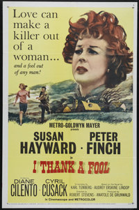 """I Thank a Fool (MGM, 1962). One Sheet (27"""" X 41""""). Drama/Crime. Directed by Robert Stevens. Starring Susan Hay..."""