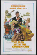 "Movie Posters:Action, The Man With the Golden Gun (United Artists, 1974). InternationalOne Sheet (27"" X 41""). Roger Moore stars as 007 in this ac..."