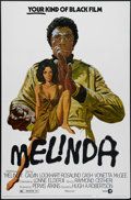 "Movie Posters:Action, Melinda (MGM, 1972). One Sheet (27"" X 41""). In this Blaxploitation film, deejay Calvin Lockhart gets revenge on the gangster..."