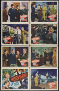 """Movie Posters:Crime, Mercy Plane (PRC, 1939). Lobby Card Set of 8 (11"""" X 14""""). When an experimental medical plane is stolen, the test pilot (Jame... (Total: 8 Items)"""