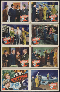 "Mercy Plane (PRC, 1939). Lobby Card Set of 8 (11"" X 14""). When an experimental medical plane is stolen, the te..."
