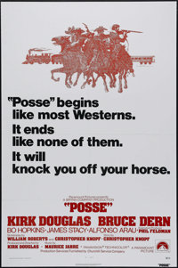 """Posse (Paramount, 1975). One Sheet (27"""" X 41""""). Kirk Douglas produces, directs and stars as Marshal Howard Nig..."""