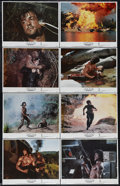 "Movie Posters:Action, Rambo: First Blood Part II (Tri Star Pictures, 1985). Lobby CardSet of 8 (11"" X 14""). ""Sir, do we get to win this time?"" Sy...(Total: 8 Items)"