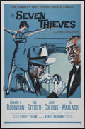 "Movie Posters:Crime, Seven Thieves (20th Century Fox, 1959). One Sheet (27"" X 41""). Crime/Drama. Directed by Henry Hathaway. Starrring Edward G. ..."