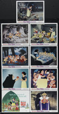 "Movie Posters:Animated, Snow White and the Seven Dwarfs (Buena Vista, R-1990s). Lobby Card Set of 9 (11"" X 14""). Walt Disney's first full-length fea... (Total: 9 Items)"