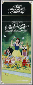 "Movie Posters:Animated, Snow White and the Seven Dwarfs (Buena Vista, R-1980s). Insert (14"" X 36""). Disney pulled out all of the stops for this effo..."