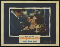 """Strangers on a Train (Warner Brothers, 1951). Lobby Card (11"""" X 14""""). Farley Granger and Robert Walker star in..."""