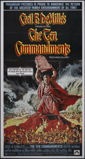 "Movie Posters:Drama, The Ten Commandments (Paramount, R-1972). Three Sheet (41"" X 81""). Charlton Heston and Yul Brynner star in Cecil B. DeMille'..."