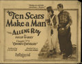 "Movie Posters:Adventure, Ten Scars Make a Man (Pathe Exchange Inc., 1924). Title Lobby Card(11"" X 14""). Allene Ray and Jack Mower star in this Pathé..."