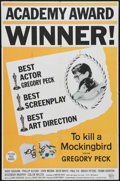 "Movie Posters:Drama, To Kill a Mockingbird (Universal, 1963). One Sheet (27"" X 41""). Academy Award style poster for this classic film starring Gr..."