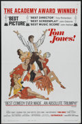 "Movie Posters:Academy Award Winner, Tom Jones (United Artists, 1963). One Sheet (27"" X 41""). Adventure/Comedy. Directed by Tony Richardson. Starring Albert Finn..."