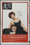 "Movie Posters:Comedy, Top Secret Affair (Warner Brothers, 1957). One Sheet (27"" X 41"").Kirk Douglas and Susan Hayward star in this comedy about a..."