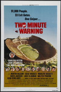 "Two-Minute Warning (Universal, 1976). One Sheet (27"" X 41""). A crazed sniper is hidden in the Rose Bowl during..."