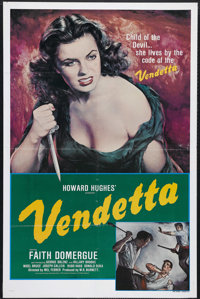 """Vendetta (Universal R-1979). One Sheet (27"""" X 41""""). Colorful re-release poster for Howard Hughes' adventure fi..."""
