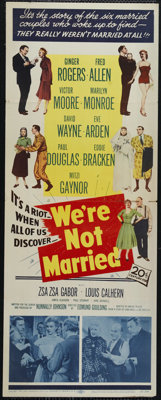 """We're Not Married (20th Century Fox, 1952). Insert (14"""" X 36""""). Marilyn Monroe, Ginger Rogers and Fred Allen s..."""