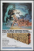 """Movie Posters:Fantasy, When Dinosaurs Ruled the Earth (Warner Brothers, 1971). One Sheet(27"""" X 41""""). In a time when Men and Dinosaurs co-existed (..."""