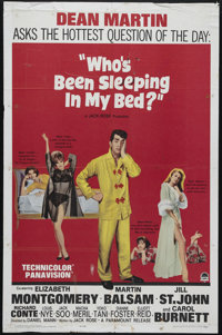 """Who's Been Sleeping in My Bed? (Paramount, 1963). One Sheet (27"""" X 41""""). This '60s sex comedy is anchored by D..."""