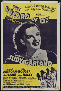 """The Wizard of Oz (MGM, R-1955). One Sheet (27"""" X 41""""). Judy Garland stars as Dorothy in one of the most honore..."""